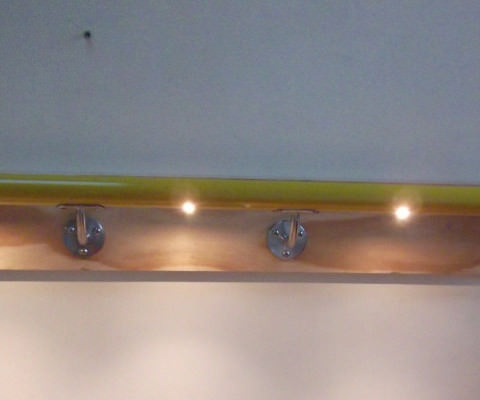 LED's lighting interior wall mounted handrail