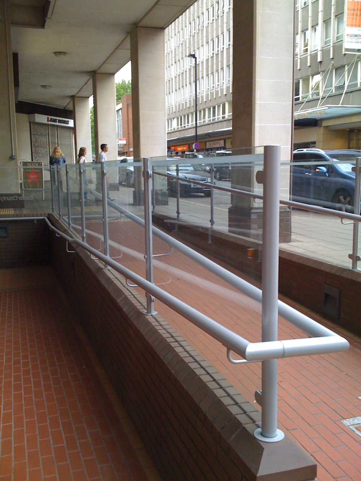 Aluminium Handrail on ramp