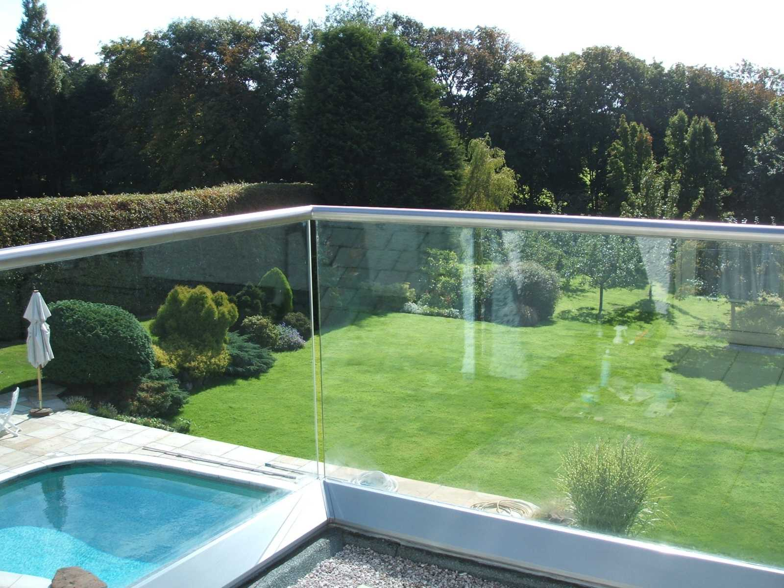 residential Glass balustrade over swimming pool