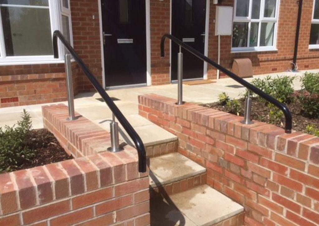 Black residential handrail