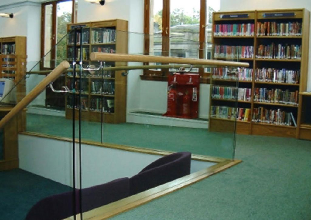 Handrail in library