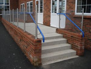 External School Steps and ramp handrail