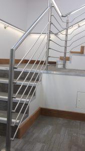 Illuminated Handrails at Cambridge student accommodation