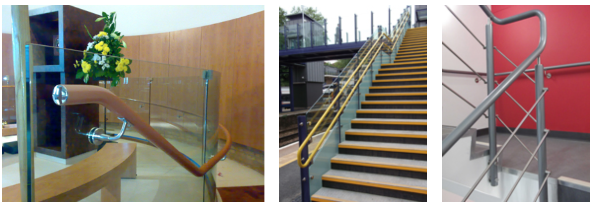 three images of Stargard DDA Handrails
