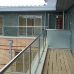 Glass balustrade on apartment