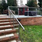 glass balustrade on residential garden