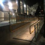 Illuminated handrail lighting ramp