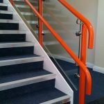 Glazed dda handrail for school