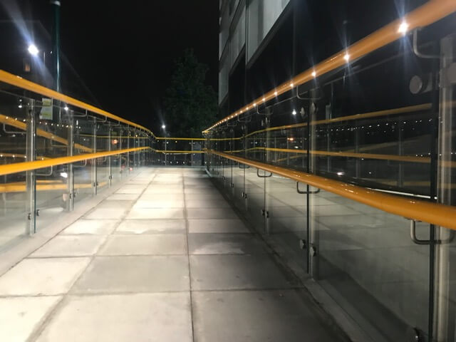LED illuminated handrails