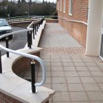 External white warm to touch handrail