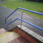 Warm to touch handrail