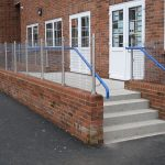 External education handrail for staircase and ramp