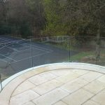 Curved glassrail balustrade