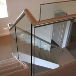 Residential staircase with glass balustrade