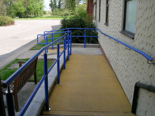 External Hospital Ramp Handrail