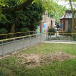 External handrails for hospital garden
