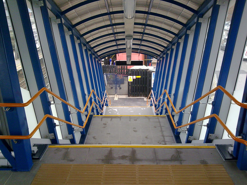 Railway Station handrails for footbridge