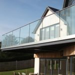 Clear View glass balustrade on house