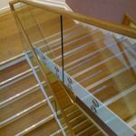 Glassrail balustrade on staircase