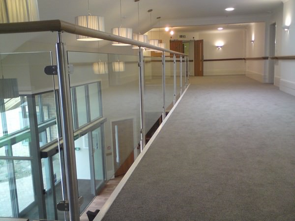Healthcare Stainless steel and glass balustrade