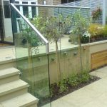 Residential glass balustrade