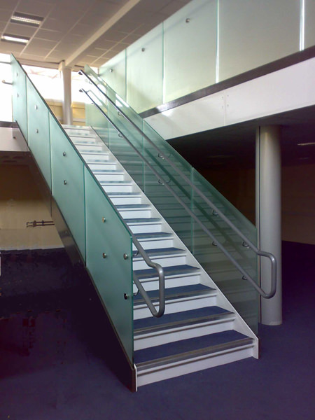 Main School staircase with glass infill