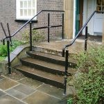 Black healthcare step handrail