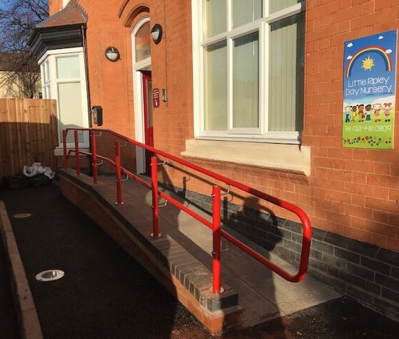 stargard handrail outside nursery