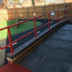 External handrail on ramp