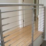 Wire infill balustrade on domestic landing